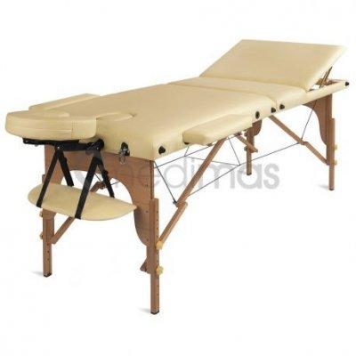 Medimas dřevěné masážní lehátko Prosport 3 - barva béžová