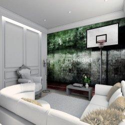 Tapety Coloriqa velkoformátová fototapeta Basketbalový koš Materiál: 100% vliesová tapeta, Rozměr: 104 x 70,5 cm (S)