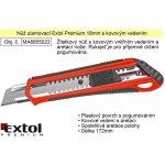 EXTOL PREMIUM nůž ulamovací s kovovou výstuhou, 18mm, EXTOL PREMIUM