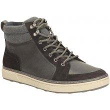 Clarks Pánská kožená kotníková obuv středně široká Lorsen Top Black WLined Lea M