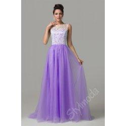 Společenské šaty s krajkou dlouhé fialové CL6108 alternativy ... dc4631a28e