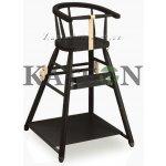Dřevěná dětská jídelní židlička SANDRA wenge B430