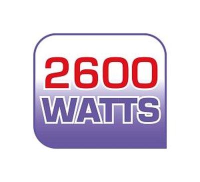 2600 W pro rychlé zahřátí