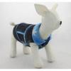 Riflová vesta pro psa – modré květinky, XL SHOPAKVA
