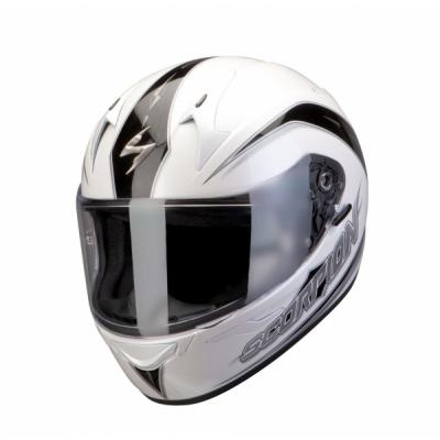 Moto přilba SCORPION EXO-410 AIR GLIDE pearl bílo/černá XXL