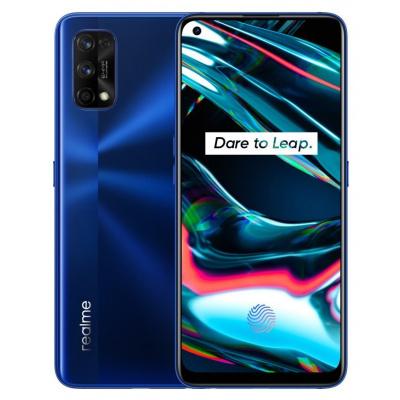 """Realme 7 Pro modrý Mobilní telefon, Dual SIM, Octa core 2,3GHz, 8GB RAM, 128GB, LTE, 6,4"""" FHD+, AMOLED, foto zadní 64+8+2+2Mpx, foto přední 32Mpx, Android 10, modrý RMX2170BL"""