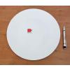 Talíř mělký PIZZA bílý, 33cm