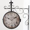 Kovové nádražní hodiny Old town L - oboustranné