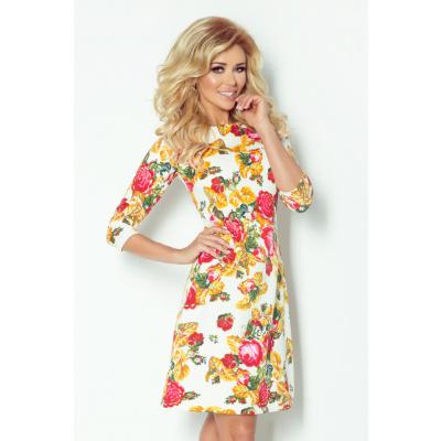 Dámské společenské šaty BLOSSOM s květovaným motivem krátké květované - Květovaná / L - Numoco - L