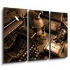 Obraz 3D třídílný - 105 x 70 cm - Vintage still-life, obraz třídílný 3D, obraz 3D, třídílný obraz, 3d obraz - DOPRAVA ZDARMA