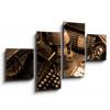 Obraz 4D čtyřdílný - 100 x 60 cm - Vintage still-life, obraz čtyřdílný 4D, obraz 4D, čtyřdílný obraz, 4d obraz - DOPRAVA ZDARMA