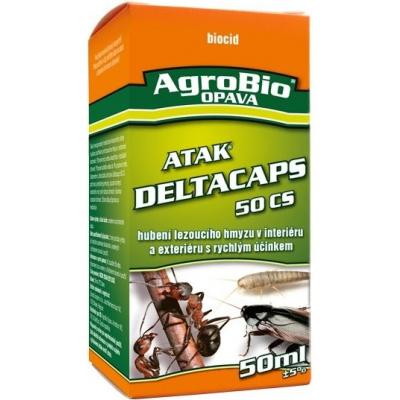 ATAK DELTACAPS -koncentrát určený k hubení štěnic a švábů - 50 ml. (ATAK DELTACAPS - koncentrát určený pro postřik na hubení hmyzu při sanitární hygieně: štěnic, švábů, much, komárů, rusů, mravenců, m