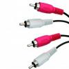 No Name, Audio kabel Cinch 2x M- Cinch 2x M, černý, 1.5m,