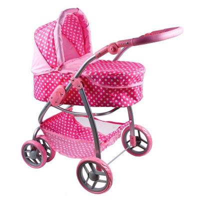PLAYTO - Multifunkční kočárek pro panenky Jasmínka světle růžový