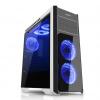Evolveo EVOLVEO Ray 4, case full ATX midi tower, 5x 120mm, 2x USB2.0, 1x USB3.0, tvrzené sklo černo modrý de - CAER4