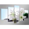 Dekorační obraz 160x80cm - 5 dílů - 5504 - květiny (Záruka 24 měsíců / obrazy na zeď / pokojové obrazy)