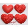 Sádrové srdíčko červené odstíny