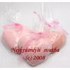 Sádrové srdíčko růžové odstíny
