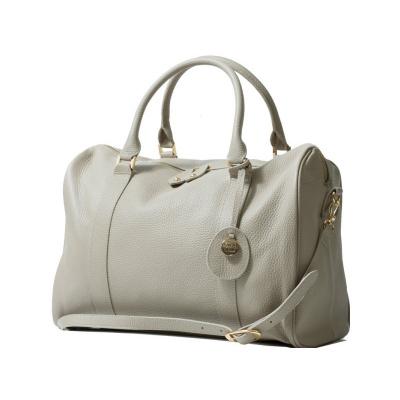 PacaPod FIRENZE krémová - luxusní kožená kabelka i přebalovací taška