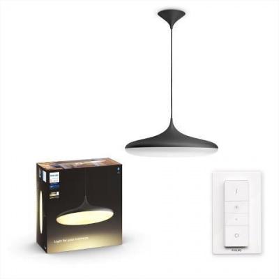 Hue LED White Ambiance Závěsné svítidlo Philips Cher BT 40761/30/P6 39W 3000lm 2200-6500K 24V, černé s dálkovým ovladačem a Bluetooth