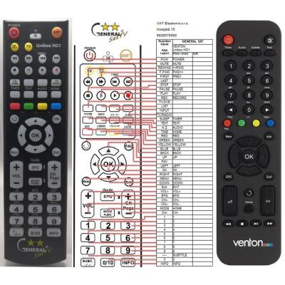 GENERAL VENTON UNIBOX HD1 - dálkový ovladač, náhrada kompatibilní