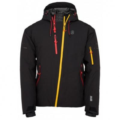 Kilpi Asimetrix-M černá pánská nepromokavá zimní lyžařská bunda 20000 XS