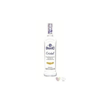 "Don Q "" Cristal "" white Puerto Rican rum 37.5% vol. 0.70 l"