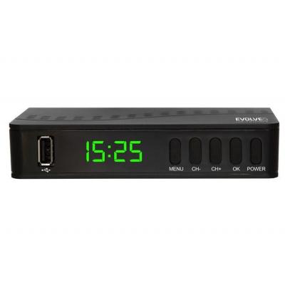 EVOLVEO Alpha T2, HD DVB-T2 H.265/HEVC multimediální rekordér, HDMI, SCART, USB - DT-3055-T2-HEVC