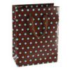 Dárková taška - Hnědá s puntíky Velikost: Střední