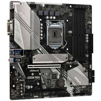 Základní deska ASRock B365M Pro4 Základní deska, Intel B365, LGA1151, 4x DDR4 DIMM (max. 64GB), HDMI, DVI-D, D-Sub, M.2, USB typ C, mATX B365M PRO4