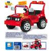Auto TOUAREG -2 osoby - červené 12V (Auto TOUAREG -2 osoby - červené 12V)