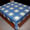 Teflonový ubrus: tisk - káro modré
