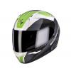 Moto přilba SCORPION EXO-410 AIR SLICER bílo/černo/zelená XL