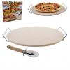 Pizza set kamenina/drát+kráječ