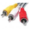 No Name, Audio/video kabel Cinch 3x M- Cinch 3x M, černý, 2m,
