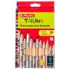 Pastelky 12 barev, Herlitz Trilino, trojhranné, silné, v papírové krabičce