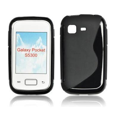 Silikonové pouzdro Samsung S5300 Galaxy Pocket - Black Sline.