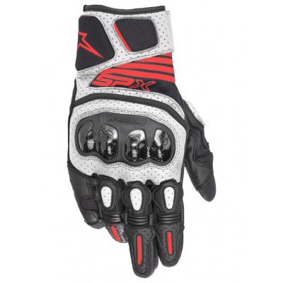 rukavice SP X AIR CARBON 2, ALPINESTARS (černá/bílá/červená fluo) L