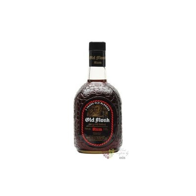 """Old Monk """" XXX VO """" 7 years old blended Indian rum Mohan Nagar distillers 42.8%vol. 1.00 l"""