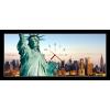Obraz s hodinami - socha svobody + sleva na další nákup - drenta