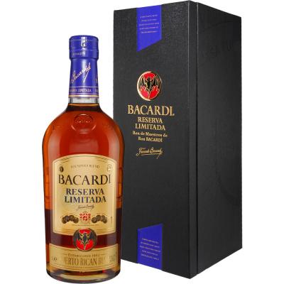 Bacardi Reserva Limitada 1,0 l 40% GB Bacardi Puerto Rico 40% 10 - 16 let Tmavě zlatá 2650