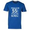 45e71a93adfe TUKAN AGENCY Pánské tričko Trvalo mi 55 let než vypadám jako borec Barva   Modrá královská