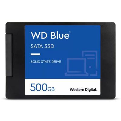 """SSD disk WD Blue 3D NAND 500GB SSD disk, interní, 500GB, SATA III, 2,5"""", 7mm WDS500G2B0A"""