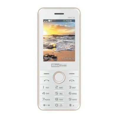 Mobilní telefon MAXCOM Classic MM136, CZ lokalizace, bílo-zlatá