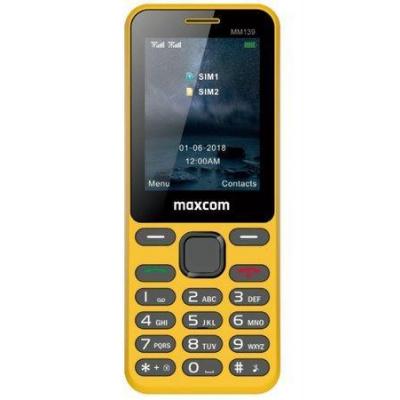 Mobilní telefon MAXCOM Classic MM139, CZ lokalizace, žlutý