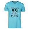 5a2bc65c65de TUKAN AGENCY Pánské tričko Trvalo mi 55 let než vypadám jako borec Barva   Modrá atol