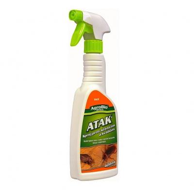 Postřik na hubení štěnic a švábů - 400 ml (Vysoce účinný postřik proti štěnicím a švábům. Přípravek určený k hubení štěnic a švábů a jiného lezoucího hmyzu při sanitární hygieně. Může být používán v o
