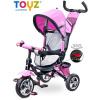 Tříkolka Toyz Timmy 2017 pink (Tříkolka otočná dětská se stříškou)