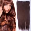 Clip in vlasy - 60 cm dlouhý pás vlasů - 33 - tmavý kaštan