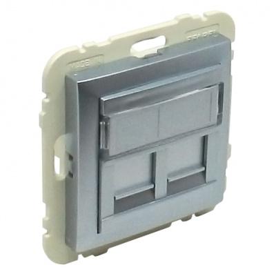 90442 Kryt dvojité datové zásuvky (pro RJ45 konektory) SAL – hliník